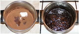 glazura de ciocolata, preparare glazura de ciocolata, preparare glazura de cacao, glazura pentru torturi si prajituri, glazura pentru gogosi glazurate, glazura pentru gogosi ineluse glazurate, glazura neagea, retete culinare, preparate culinare, retete glazura, reteta glazura,