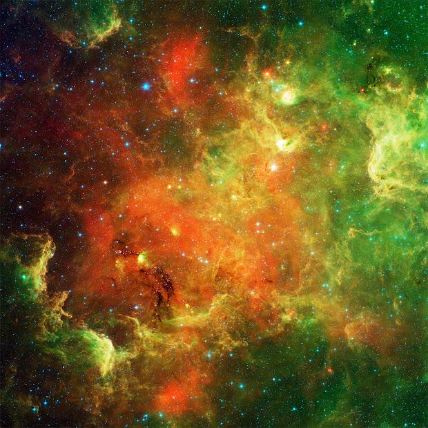 NASA's Spitzer new infrared view of the North America Nebula