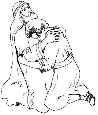 El Hijo Pródigo para colorear ~ Dibujos Cristianos Para Colorear