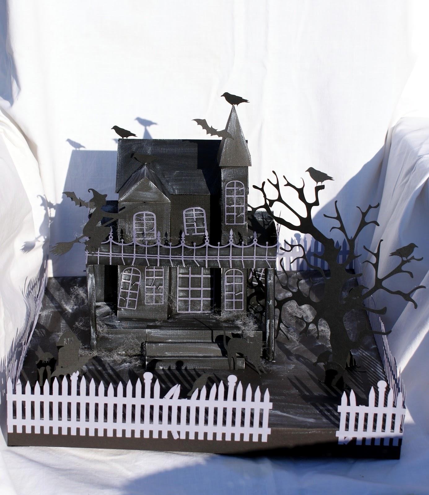 kreative bastelideen halloween geisterhaus. Black Bedroom Furniture Sets. Home Design Ideas