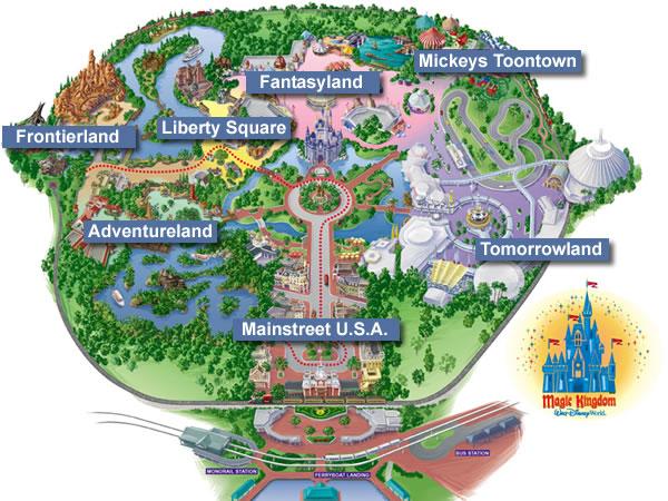 magic kingdom map 2010. disney magic kingdom