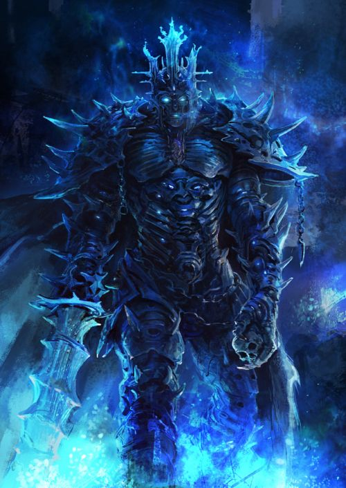 Kuang Hong illustrations fantasy dark grim Knight of night