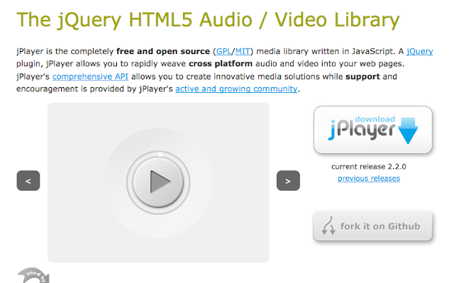 The JQuery HTML5 Audio Player