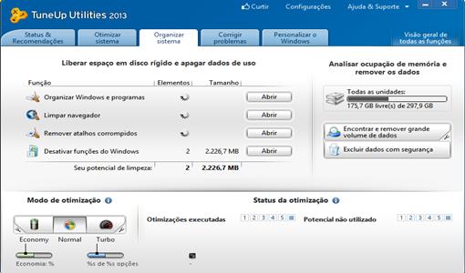TuneUp Utilities 2013 limpa muito mais o seu PC