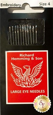 Richard Hemming &Son Embroidery/Crewel Needle- 12 pack | Shabby Fabrics