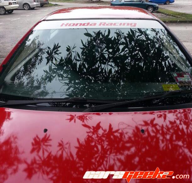 honda racing windscreen sticker