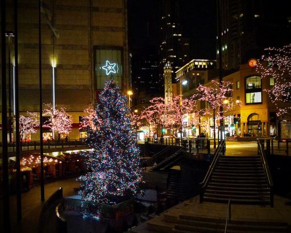 Christmas Tree at Night by Doug.siefken