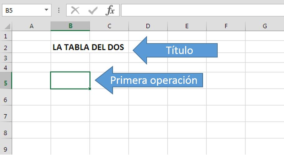 Título celda Excel