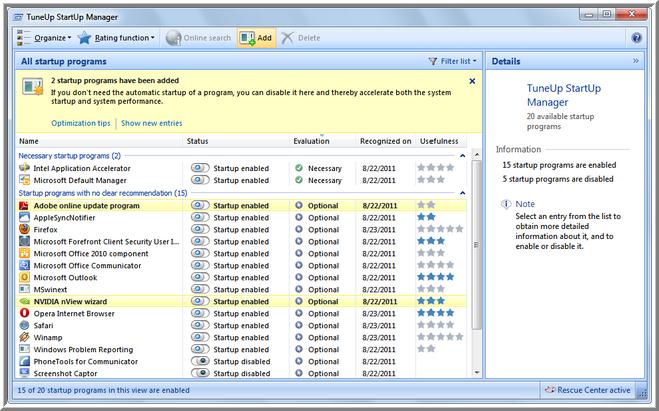 TuneUp Utilities 2013 Screen Shots