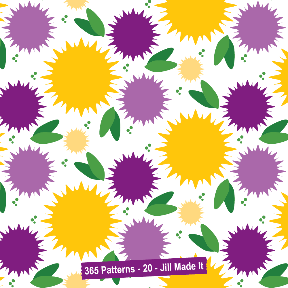 365 Patterns:  Happy Abstract Flowers