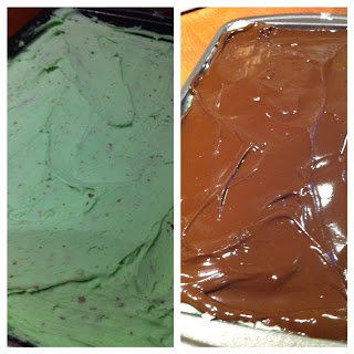 leprechaun brownies frosting