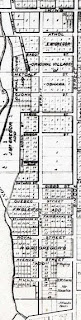 Details of Southeast Ward /Map of Oshawa ca. 1850. Source: OurOntario.ca