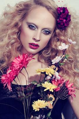 vesma parcina model, floral beauty photography
