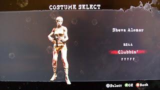 resident evil 4 costume select