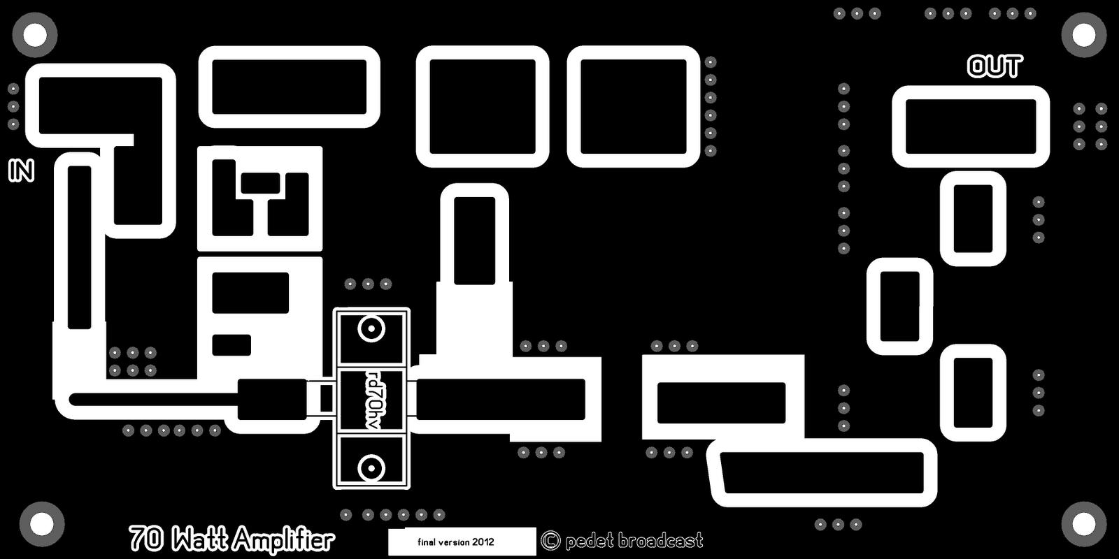 pcb layout rf amplifier rd 70 skema rf amplifier rd 70 rf amplifier rd