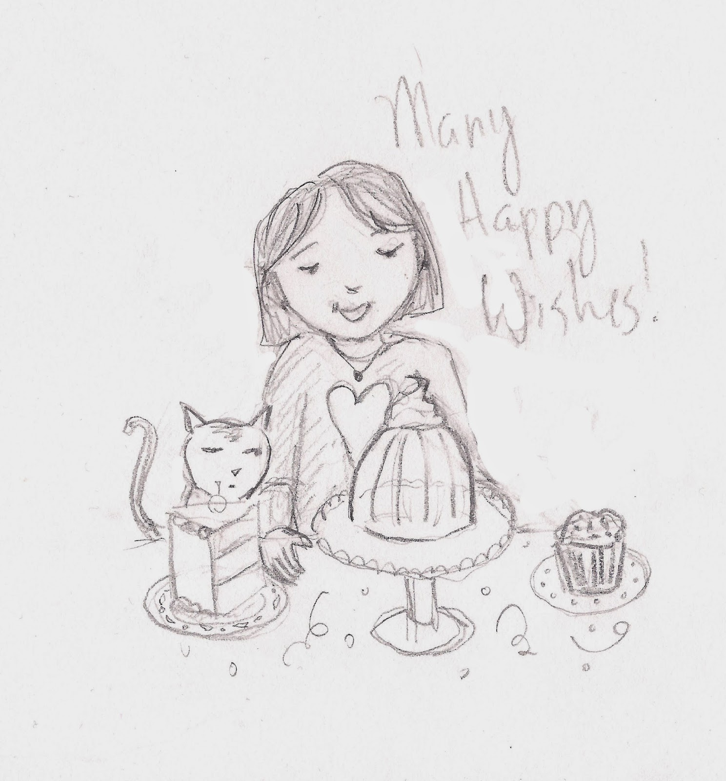 The sketchables birthday card sketches birthday card sketches bookmarktalkfo Choice Image