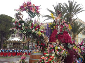 The Bataille de Fleurs (flower parade) at the Nice Carnival