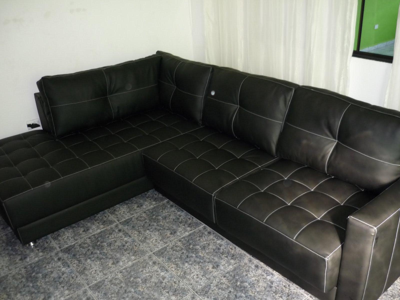 Reforma e fabricação de sofás: Sofá de Canto feito com Couro