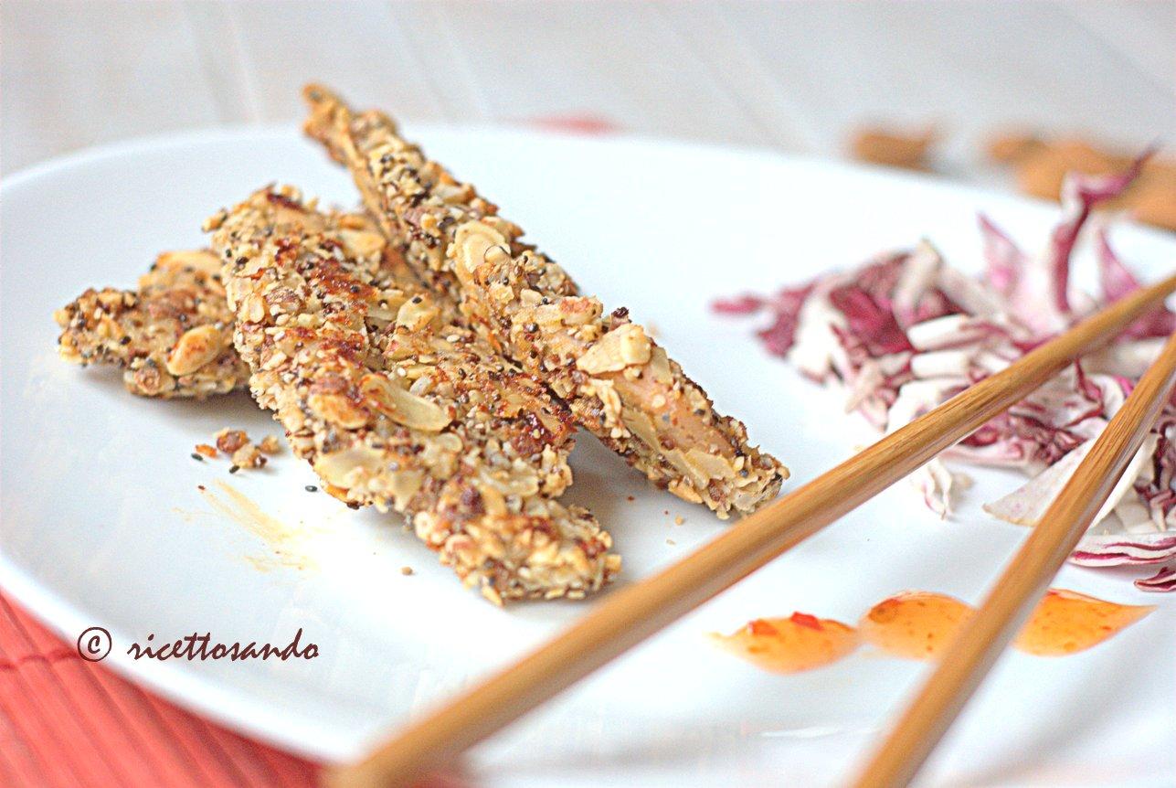 Pollo croccante alle mandorle ricetta cinese di carne bianca