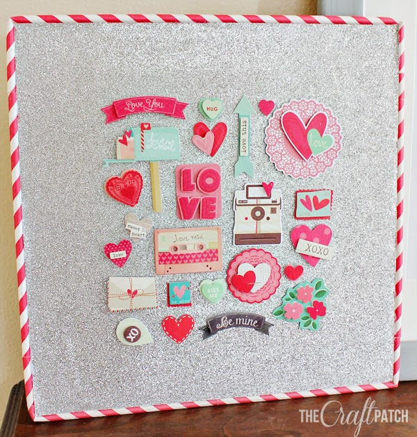 the craft patch: cheap (and glittery!) valentines day art, Ideas