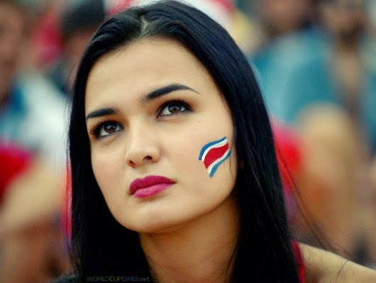 Beautiful Costa Rican girl watching the World Cup 2014