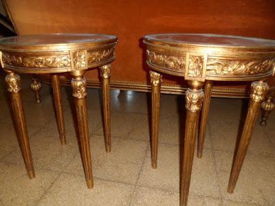 Pandame de mesas Luis XVI