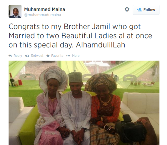 Naija guy gets married to 2 beautiful girls at the same time