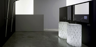 illuminated washbasin in Alicrite from Zolijns