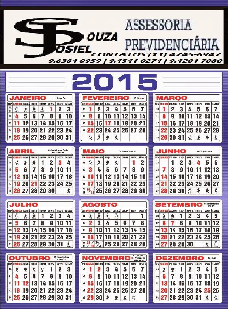 Calendario 2015 Feriados 2015 Brasil Calendario 2015 Do Bras