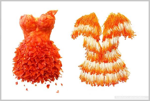 Изумительные платья из продуктов