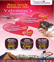 Valentines day Flight and Tour Deals