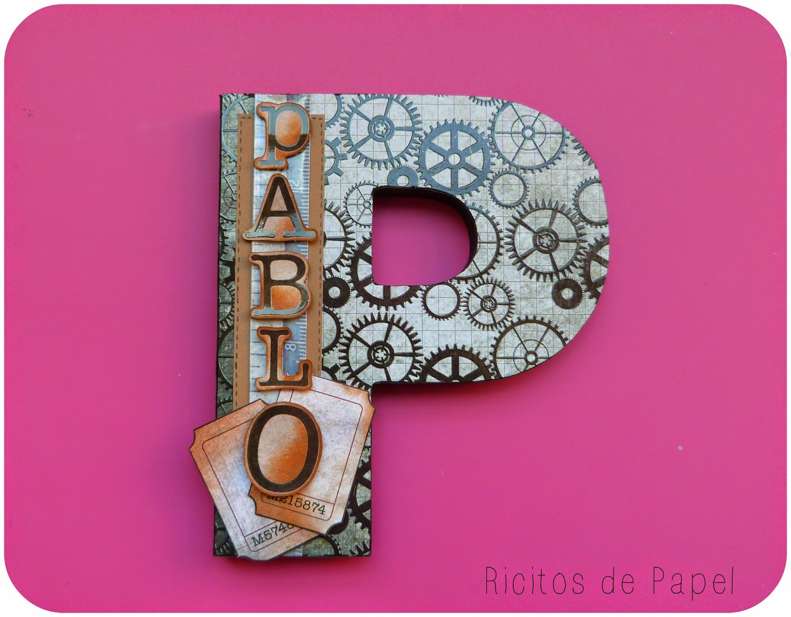 Ricitosdepapel letras decoradas divertidas - Letras grandes decoradas ...