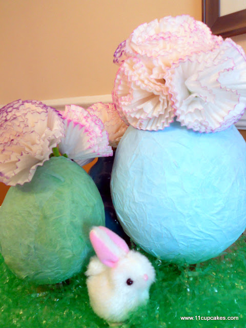 Easter Cupcake Liner Flower Tutorial