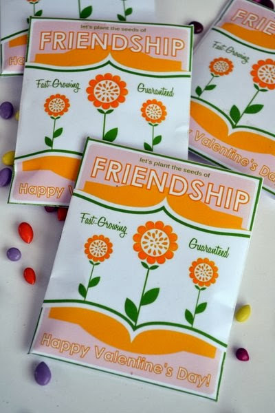 Seeds of Friendship ~ Free Printable Seed Packet Valentine DIY