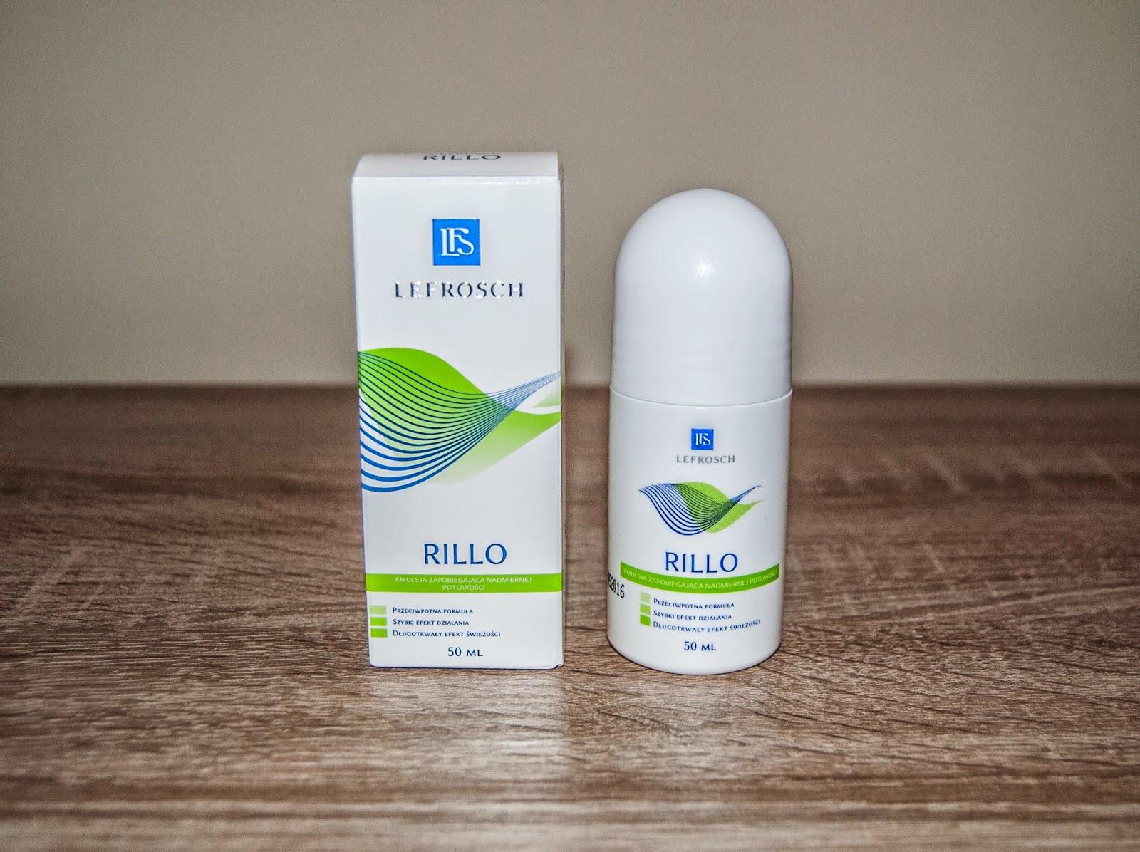 Rillo, emulsja zapobiegająca nadmiernej potliwości, 50 ml