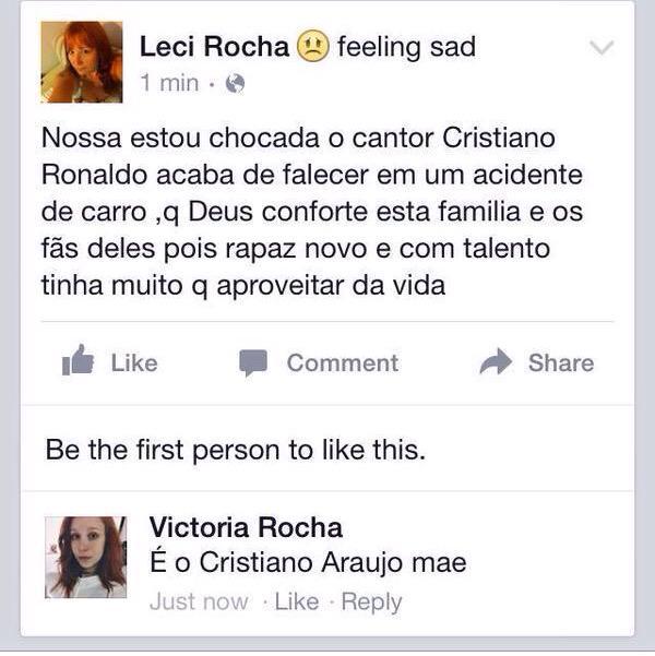Cantor Cristiano Ronaldo