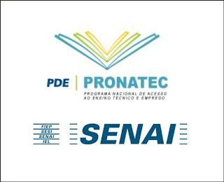 PRONATEC SENAI 2012-2013 INSCRIÇÕES