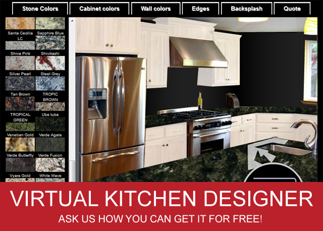 Fireups online marketing virtual kitchen designer adds for Kitchen color planner