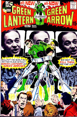 Green Lantern Green Arrow #84 dc comic book cover art by Neal Adams