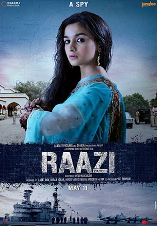 Poster Of Hindi Movie Raazi 2018 Full HD Movie Free Download 1GBRip Watch Online