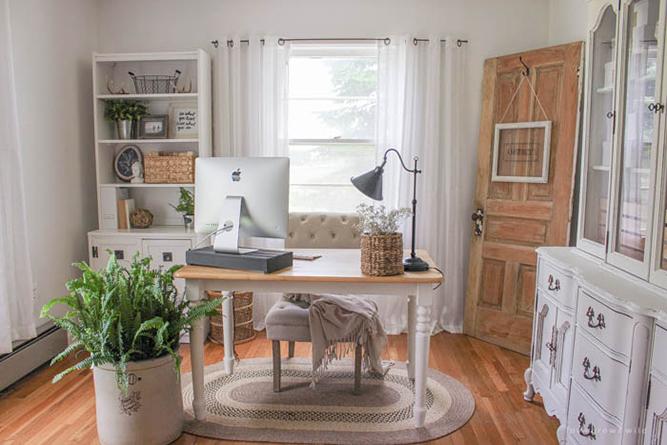 Inspiraci n deco un espacio de trabajo en casa de estilo Estilo clasico renovado