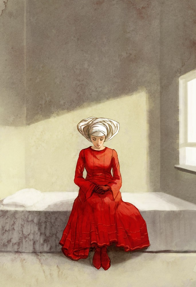 the handmaids tale 5 essay Write essay two handmaids enter, one of whom is pregnant.