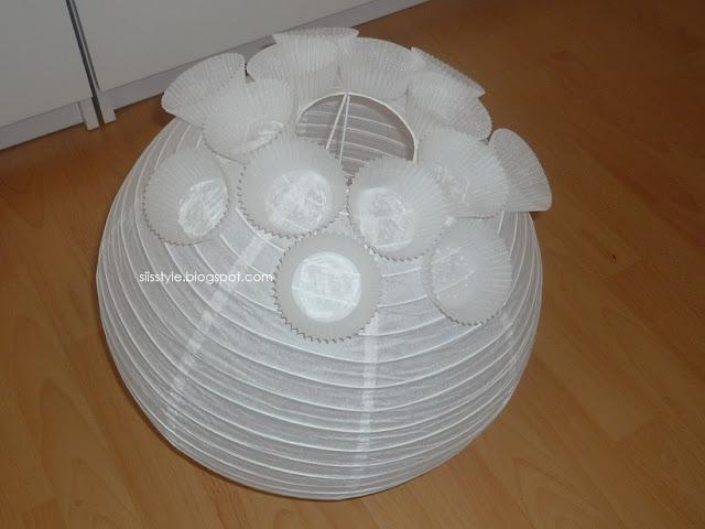 F r o s c h s t u e t z p u n k t muffin lampe gebastelt - Lampe kinderzimmer basteln ...