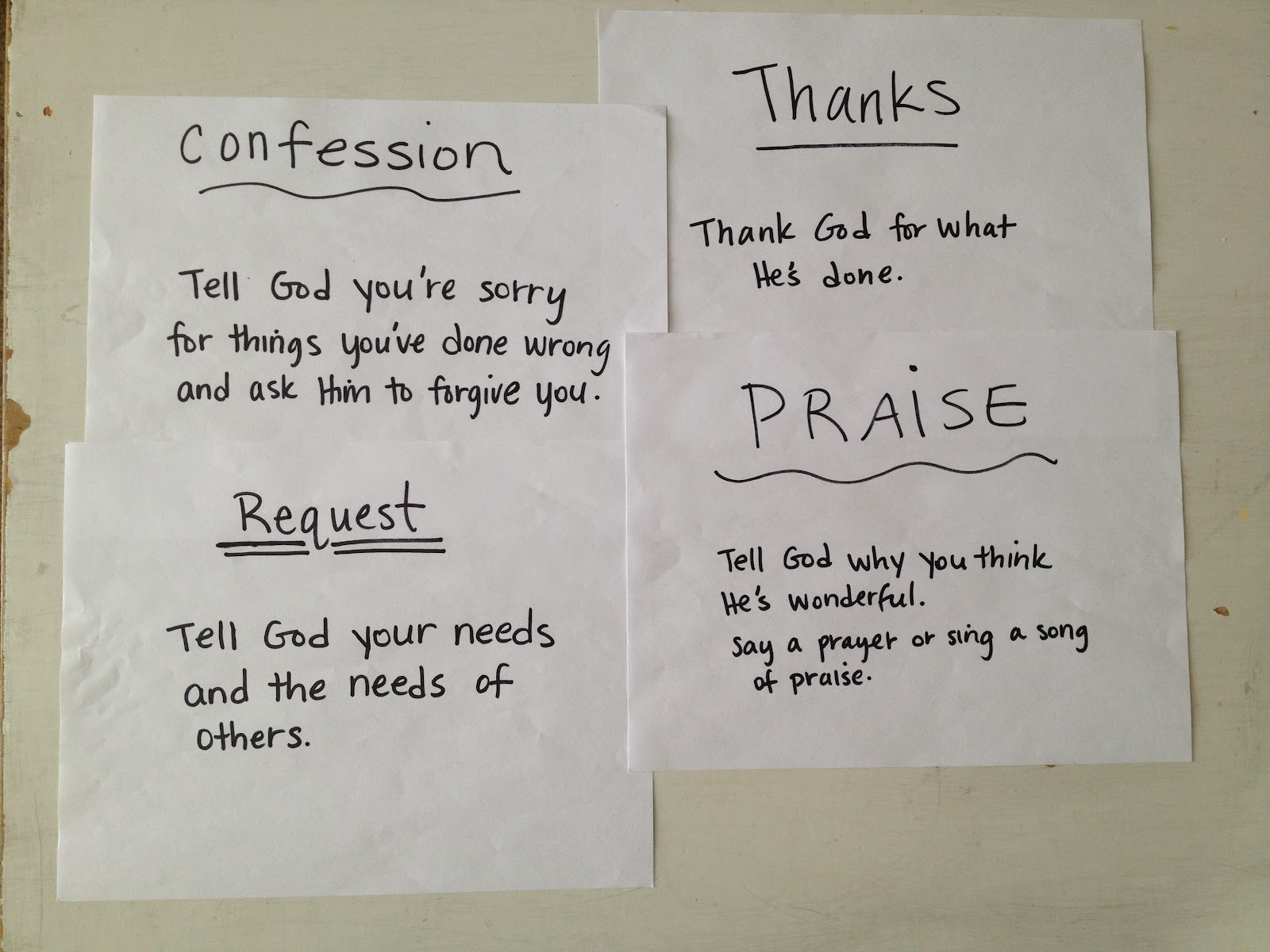 how to write a personal prayer