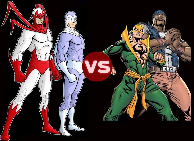 Hawk and Dove vs Luke Cage and Iron Fist
