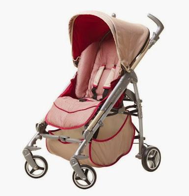 Xe đẩy em bé Scope màu đỏ
