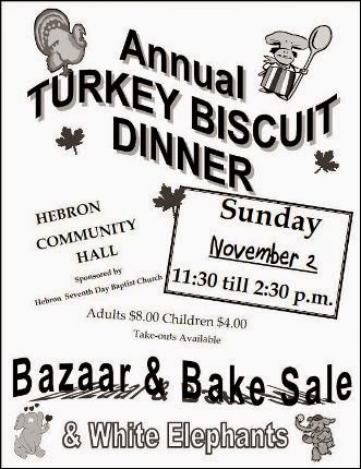 11-2 Turkey Biscuit Dinner, Hebron