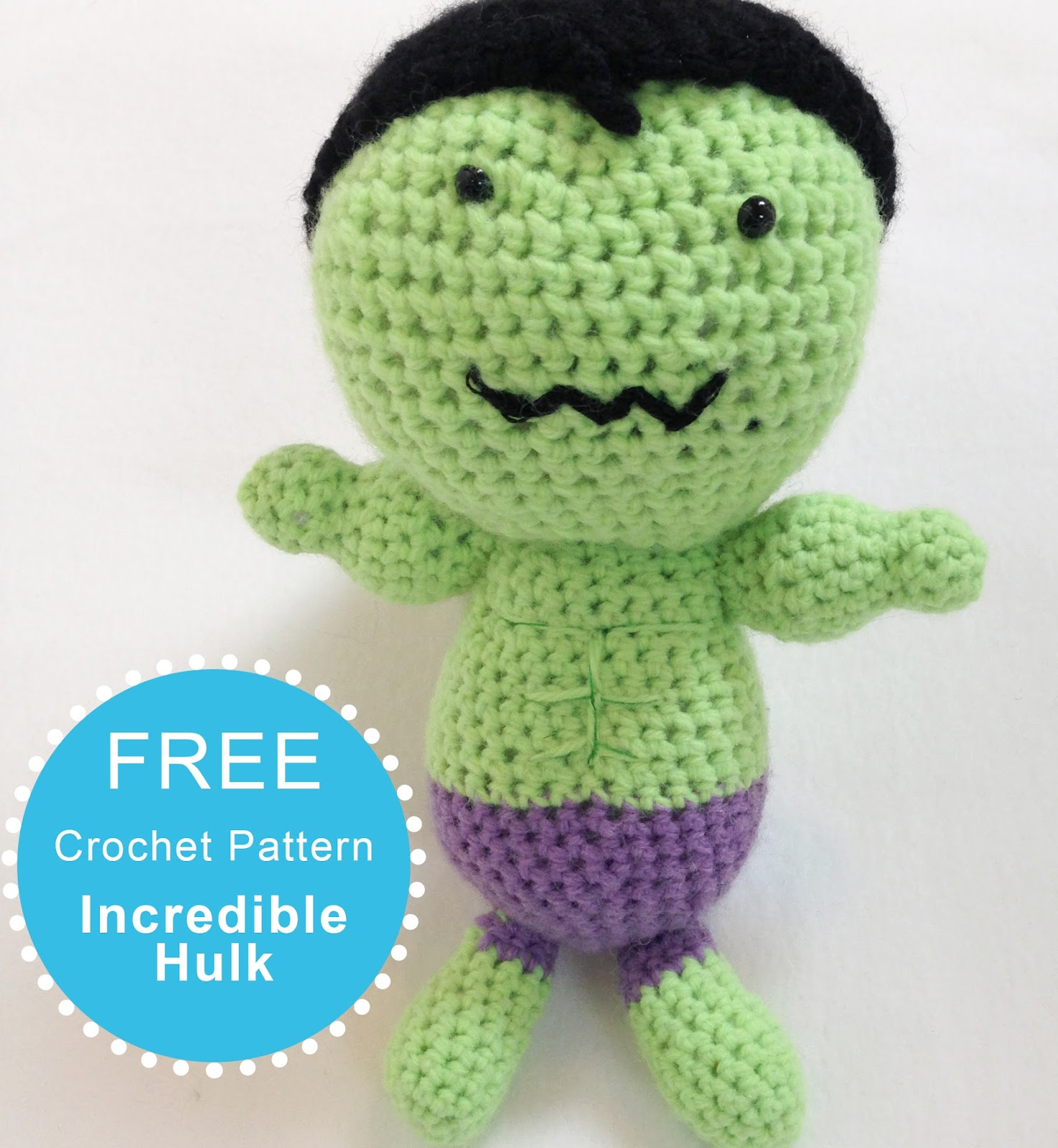 The Perfect Hiding Place: FREE Crochet Pattern: Incredible Hulk