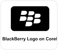 BlackBerry Logo Corel Tutorial