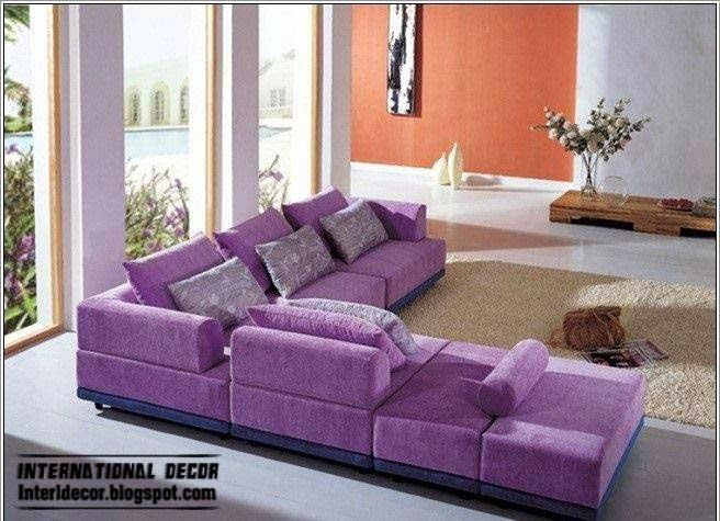 Luxury purple furniture sets sofas chairs for living Living room furniture sets uk